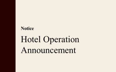Hotel Operation Announcement